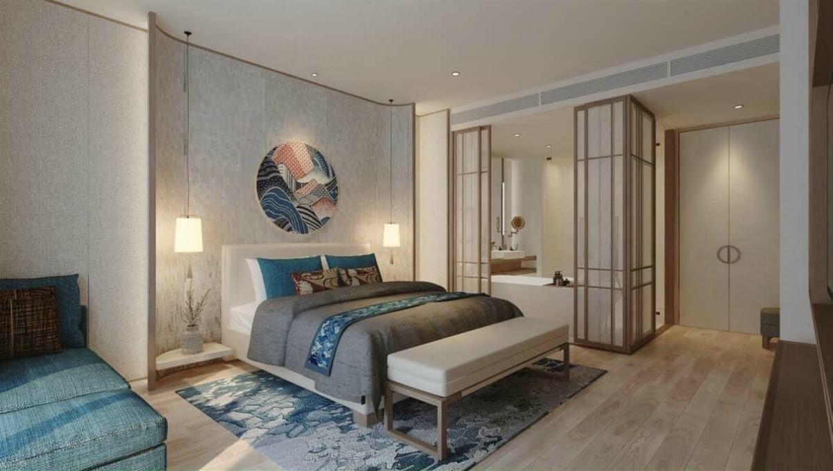 Căn hộ Ocean Suite được thiết kế nội thất theo phong cách Nhật