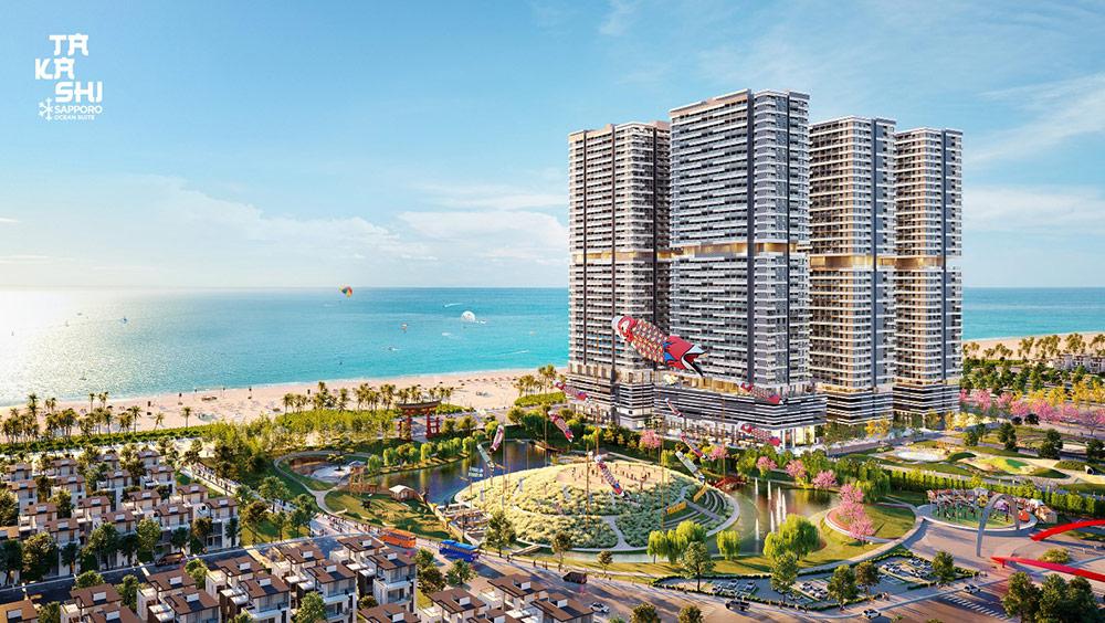 """Khu đô thị biển Takashi Ocean Suite Kỳ Co lọt vào """"tầm ngắm"""" của nhà đầu tư - Ảnh: Danh Khôi Group"""